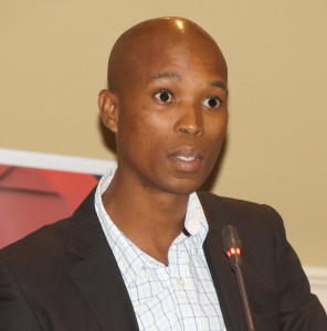 Senior lecturer at the University of South Africa and LSSA independent consultant, Tsili Phooko, speaking on his preliminary research findings of his study on briefing patterns in the legal profession at the briefing patterns summit held in Kempton Park in March.