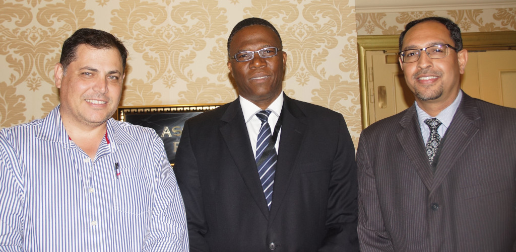 From left: President of the Law Society of the Northern Provinces, Anthony Millar; President of the KwaZulu-Natal Law Society, Lunga Peter; and President of the Cape Law Society, Ashraf Mahomed. Deidré Milton was absent.