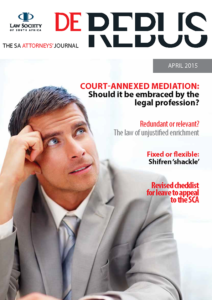 April 2015 De Rebus_Cover