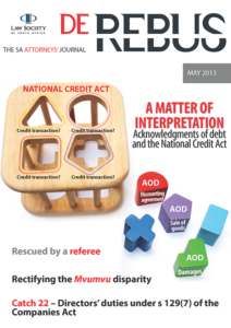 May 2013 DeRebus_Cover