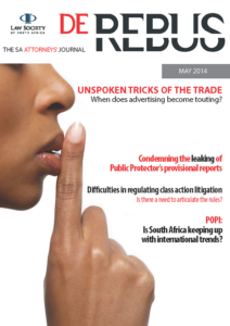 May 2014 De Rebus_Cover