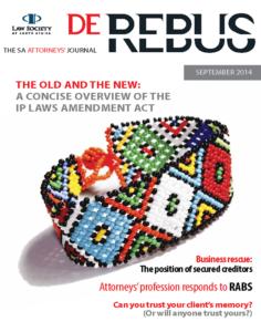 September 2014 De Rebus_Cover