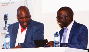 Deputy President of the Black Lawyers Association, Mashudu Kutama (left), and President of the BLA, Lutendo Sigogo at the 39th AGM held in October.