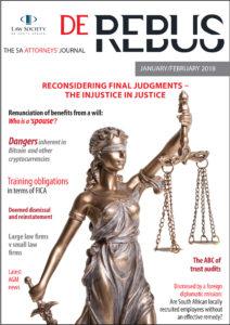 De Rebus PDF download - De Rebus