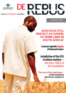 August 2014 De Rebus_Cover
