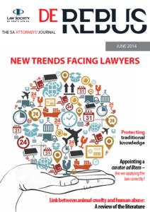 June 2014 De Rebus_Cover