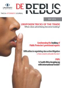 May 2014 De Rebus_Cover